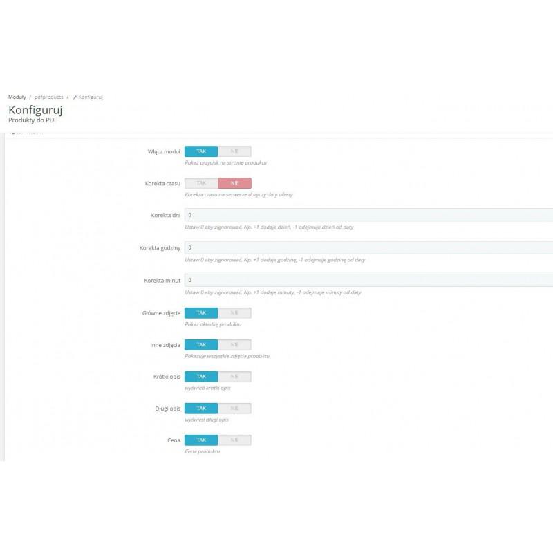 PDF generator na stronie produktu